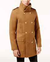 GUESS Men's Harlon Melton Double-Breasted Overcoat