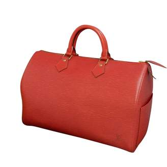 Louis Vuitton Vintage Speedy Red Leather Handbag