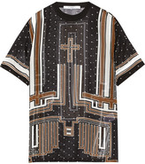 Givenchy Printed Silk-chiffon T-shirt - Black