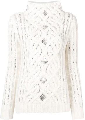 Ermanno Scervino Crystal Embellished Sweater