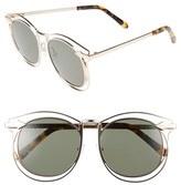 Karen Walker Women's 'Simone' 54Mm Retro Sunglasses - Gold/ Tortoise