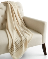 Home Design Studio CLOSEOUT! Home Design Studio Border Stripe Throw Blanket