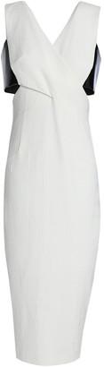 Rachel Gilbert Kader Cutout Two-tone Crepe-cloque Dress