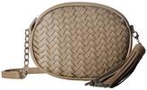 Deux Lux Sullivan Oval Weave Crossbody with Tassel