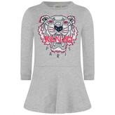 Kenzo KidsGirls Marled Grey Tiger Sweater Dress
