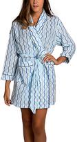 Malabar Bay Blue Sailor's Rope Organic Cotton Robe