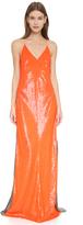Kaufman Franco KAUFMANFRANCO Sleeveless Sequin Gown