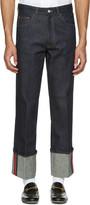 Gucci Blue Cuff Jeans