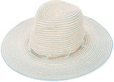 Gigi Burris Millinery striped hat - women - Straw - One Size