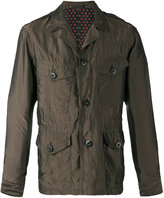 Paul Smith notched collar jacket - men - Cupro - XL