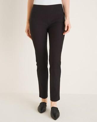 So Slimming Brigitte Geometric-Print Slim Ankle Pants