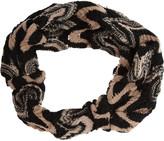 Crochet-knit headband