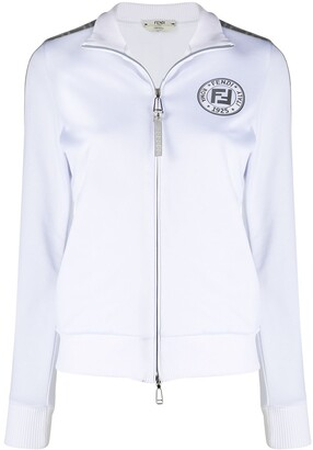 Fendi FF band metallic zipped jacket