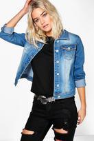 Boohoo Amber Slim Fit Denim Western Jacket