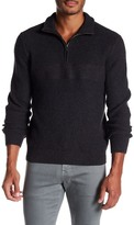 Jack Spade Half Zip Needlepunch Sweater