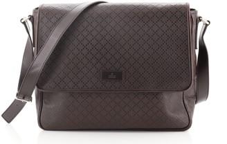 Gucci Lux Flap Messenger Bag Diamante Leather Large