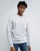 Lacoste Sweatshirt With Croc Logo In Gray