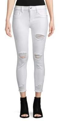Vigoss Mar Mid-Rise Distressed Skinny Jeans