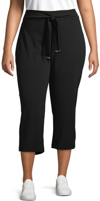 Calvin Klein Collection Plus Tapered Tie Crop Pants