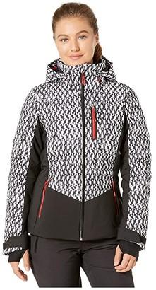 Obermeyer Cosima Down Jacket (Black/Bianco) Women's Clothing