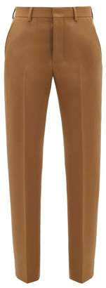 Ami Tailored Wool-twill Trousers - Womens - Camel