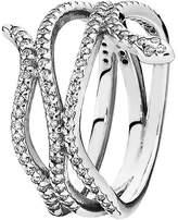 Pandora Silver Cz Snake Ring