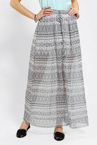Urban Outfitters Chandi & Lia Snap-Front Maxi Skirt