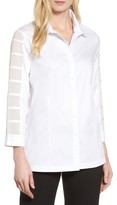 Ming Wang Women's Tiered Sleeve Shirt