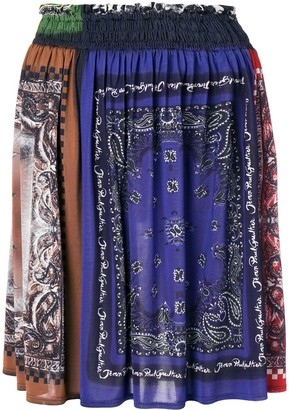 Jean Paul Gaultier Pre Owned Bandana Print Gathered Skirt