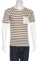 Yigal Azrouel Striped Crew Neck T-Shirt