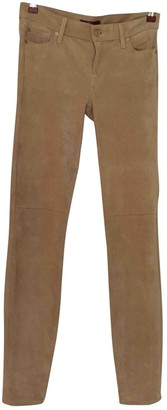7 For All Mankind Beige Cloth Trousers for Women