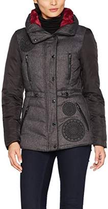 Desigual Women's ABRIG_MARLENE Long Sleeve Coat,16 UK (Manufacturer Size: )