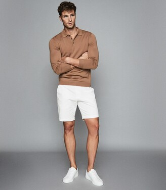 Reiss Wicket - Casual Chino Shorts in White