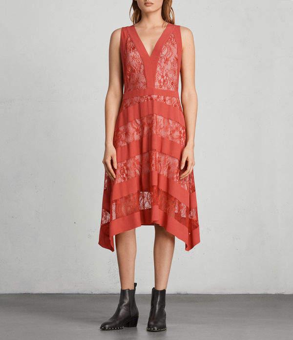 AllSaints Gwen Long Dress