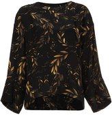 OSKLEN laurel print sweatshirt - women - Silk/Spandex/Elastane/Rayon - P