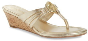 Lilly Pulitzer Rousseau Wedge Thong Sandal