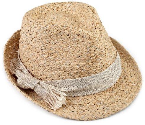 Hat Attack Women's Metallic Raffia Braid Fedora Hat