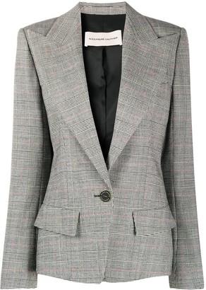 Alexandre Vauthier Tailored Check Print Blazer
