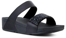 FitFlop Women's Sparklie Crystal Slide Sandals