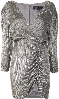 retrofete Sequin-Embellished Fitted Dress
