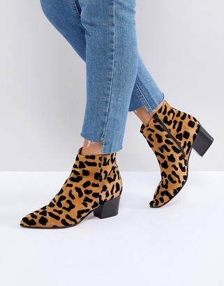 Office Aruba leopard print boots-Multi