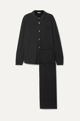 Skin - Organic Pima Cotton-jersey Pajama Set - Black
