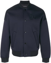 Emporio Armani embroidered logo bomber jacket