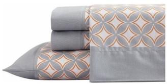 Ss12656twcbg Freshee Bedding Sheet Set, Cathedral, Gray, King