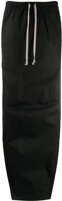 Rick Owens Side-Slit Drawstring-Waist Skirt