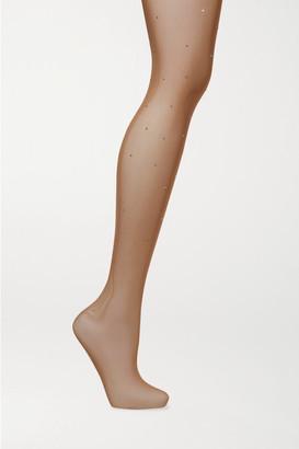 Falke Dazzle Crystal-embellished Tights - Beige