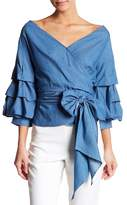 Do & Be Do + Be Wrap Tie Blouse