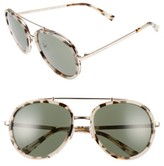 KENDALL + KYLIE Women's Jules 58Mm Aviator Sunglasses - Crystal Black/ White/ Gold
