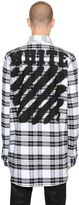 Off-White Spray Stripes Cotton Flannel Shirt
