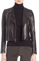 Alice + Olivia Gamma Leather Moto Jacket
